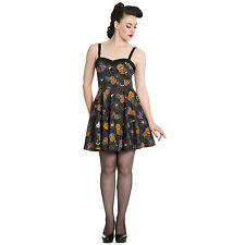 NEW Hell Bunny Harlow Halloween Mini Dress Retro Vintage Pinup Girl L