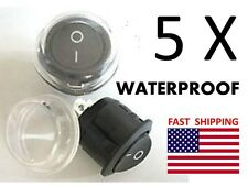 5 WATERPROOF Switches ON OFF - Universal 12v DC or AC Switch 2 wire -Boat Marine