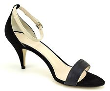 MAX MARA Brunate Womans Shoes Size 9 (39) Black Leather Strappy Sandals Heels