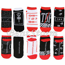 21 Twenty One Pilots Band Logo 5 Pair Ladies No Show Ankle Socks mix match NEW