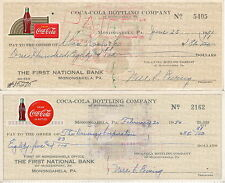 1950's Original Coca-Cola Bottling Company checks - set of 4