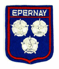 ECUSSON VILLE - REGION BLASON BRODE EMBROIDERED PATCH EPERNEY