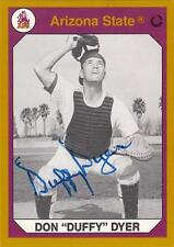 DUFFY DYER Autographed Signed 1990 card ASU Arizona State Sun Devils Mets COA