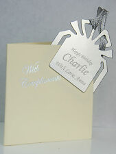Personalised Bookmark - FREE Engraved - WEDDING Birthday XMAS GIFT