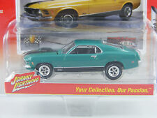 Ford Mustang Mach 1 1970 en verde, JL Johnny Lightning muscle cars estados unidos rel.1, 1/64