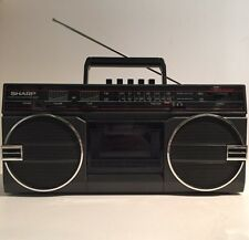 Vintage Sharp GF-3939C(D) Radio Cassette Recorder Mini Boombox Stereo Player