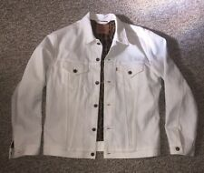 Levi's Supreme White Leopard Selvedge Trucker Jacket Size Large