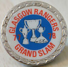 RANGERS Vintage 1970s 80s insert type badge Brooch pin in chrome 27mm x 27mm