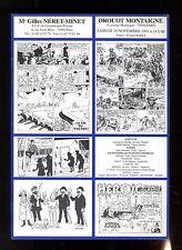 CATALOGUE VENTE BD  ENCHERES   NERET MINET  20/11/1993