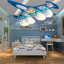 LED Cartoon Aircraft Chandelier Flush Mount Lamp kid's Room Ceiling Lighting