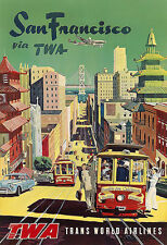 San Francisco Travel USA Art Poster Print