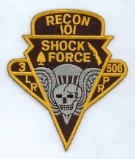 US Army101st Airborne 3./506 LRRP RECON Shock Force Uniform patch Aufnäher