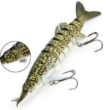 "5"" / 12.7cm Pike Muskie Fishing Lure Swimbait Crankbait Hard Bait Fish Tackle"