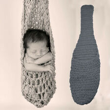 Newborn Baby Knitted Crochet Costume Photo Photography Prop Outfits Sleeping bag