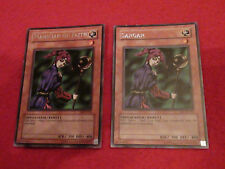 SANGAN RARE MISPRINT (DB1-EN163) + MAGICIAN OF FAITH (MRD-036) YU-GI-OH CARDS