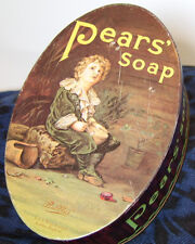 Pears Soap Tin - Made in England - Oval Shaped Advertising Promotion Replicans