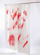 Bloody Shower Curtain Full Size Vinyl Halloween Prop Licensed 91031 New