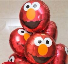 SESAME STREET ELMO FACE BIRTHDAY BALLOON BABY SHOWER Foil Kids Party Supplies.