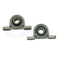 2X Diameter Zinc Alloy Bore Ball Bearing Pillow Block Mounted Support KP001 12mm