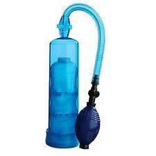 Extreme Enlargement Penis Pump Cylinder 7.5inch Blue Impotence Erectile Sex Aid
