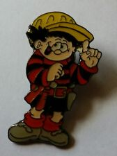 C1  Beano Character Dennis The Menace with Tool Belt  Pin Badge Enamel New