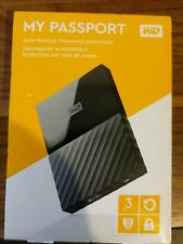 Western Digital WD 3TB My Passport Portable Hard Drive - Black