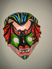 Halloween Bat Vampire mask monster horror vintage Dracula
