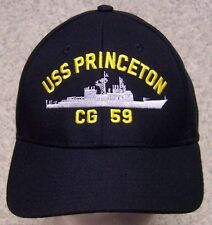 Embroidered Baseball Cap Military Navy USS Princeton NEW 1 hat size fits all