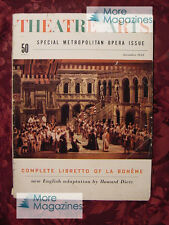THEATRE ARTS December 1953 THE MET METROPOLITAN OPERA +