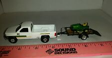 1/64 ERTL farm toy custom John deere dodge truck trailer & jd lawn mower s scale