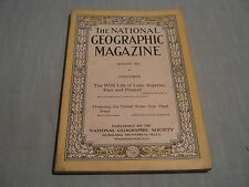 ANTIQUE NATIONAL GEOGRAPHIC August 1921 WILD LIFE OF LAKE SUPERIOR + SUPPLEMENT