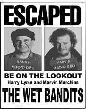 Home Alone Wet Bandits Wanted Poster Flyer/Poster Prop/Replica Harry Marvin