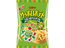Japanese Calbee Sapporo Potato Pebbly Vegetable 85g Potato+9 kinds of vegetables