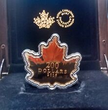 1 oz. Pure Gold Proof $200 Coin Maple Leaf Silhouette. Mint Sold Out.