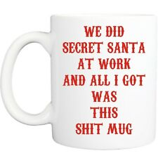SECRET SANTA MUG funny novelty tea coffee gift womens mens office christmas gift