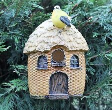 Garden Bird House Ornament Nesting Box with Blue Tit
