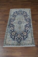 Finest Handmade Classic Nain Tabas Persian Oriental Area Rug Carpet 3'7X7'9