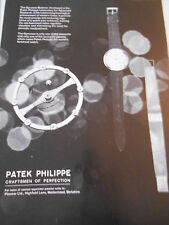 1963 Pub Advert Print Montre Patek Philippe Craftsmen of Perfection
