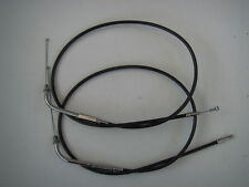 "Extended Black Throttle cables 38"" Long Fits Harley-Davidson 1981 to 1989"