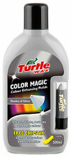 Turtle Wax Colour Magic Car Polish Wax Restorer 500ml + Chipstick Pen SILVER