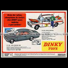 DINKY TOYS 1968 LOTUS CORTINA 205 OPEL REKORD 1900 1405 Pub Publicité Ad #B401