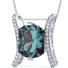 5 CT Color Changing Alexandrite Sterling Silver Pendant
