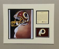 Washington Redskins 1994 Matted Football Helmet Lithograph Print
