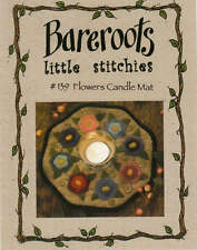 FLOWERS CANDLE MAT COMPLETE WOOL FELT QUILTING KIT, From Bareroots Patterns NEW