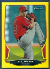 2013 BOWMAN CHROME CANARY YELLOW REFRACTOR C.J. WILSON #'D 09/10