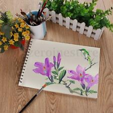 A4 Spiral Bound Watercolour Artist Sketching Book Hardback Drawing Painting Pad