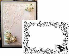 DARICE  Bird and Scroll Frame Embossing Folder 1216-63 Cuttlebug Compatible NEW