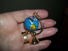 BRASS  GLOBE FOR YOUR  MINIATURE DESK - DOLL HOUSE MINIATURE