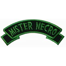 """Mister Necro"" Tag Zombie Horror Kreepsville Embroidered Iron On Applique Patch"