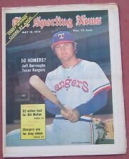 MAY 18, 1974 SPORTING NEWS TEXAS RANGERS JEFF BURROUGHS ON COVER BASEBALL